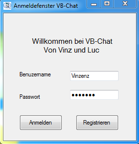 Login Fenster