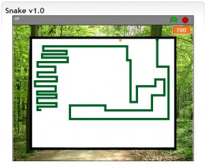 Das von uns erstellte Spiel Snake v1.0 mit Scratch